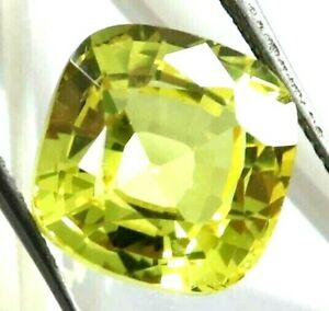 7.05 Ct Natural Yellow Sapphire Cushion Cut AGSL Certified Loose Gemstone
