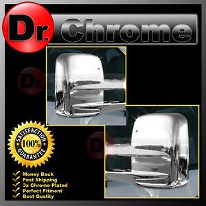 GMC Plated 03 Chrome HD ABS Sierra 13 Towing Mirror 2013 Triple Cover xBnB0