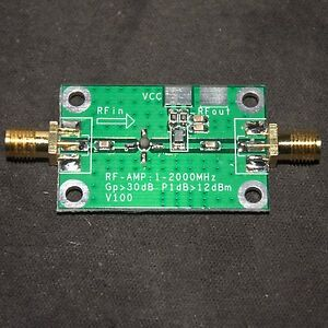 1-2000MHz-30dB-2Ghz-Low-Noise-LNA-RF-Broadband-Amplifier-Module-HF-VHF-UHF