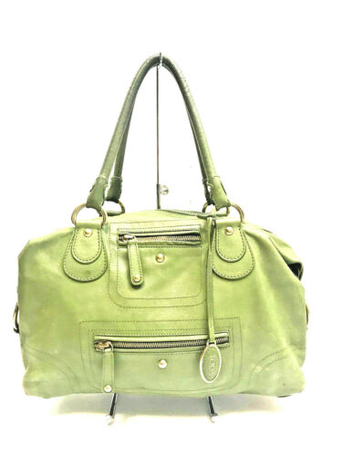 TOD'S Soft Green Leather Satchel Bag
