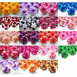 24pcs Artificial Roses Heads 175 Two Tone Silk Artificial