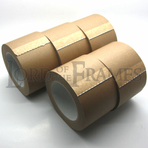 """5 x 75MM 3/"""" SELF ADHESIVE PICTURE FRAMING BACKING TAPE CANVAS STRETCHER BARS 50m"""
