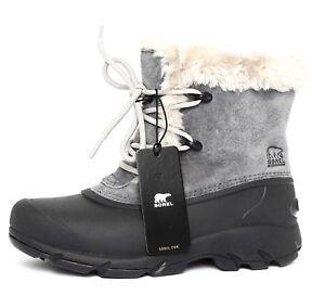 d759344113ea Sorel Women s Charcoal Snow Angel Waterproof Lace Up Snow Boot Sz 6M ...