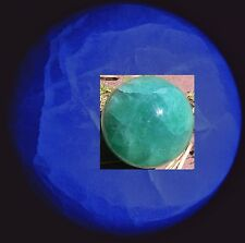 "UV (365 nM) Madagascar AFRICA Green Fluorite 4"" Sphere Ball = hard-to-find"