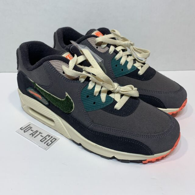 more photos f801c 04506 Mens Nike Air Max 90 Premium SE Oil Grey/rain Forest Shoes 858954-002 Size  11