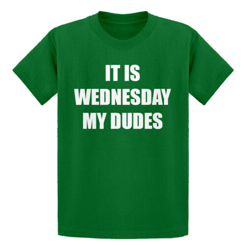 Youth It is Wednesday My Dudes Short Sleeve Kids T-shirt #3095