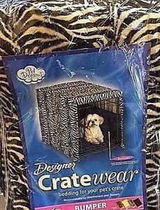 Pet-Dreams-Zebra-Design-Crate-Bumper-Wall-Safety-Protection-Padding-Size-Large