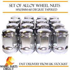 Conjunto De 16 * 14x1.5 mm 14x1.5 aleación de acero rueda Lug Nuts 60 Grados cónico Pernos