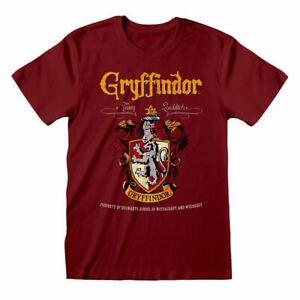Para-Hombre-Harry-Potter-Gryffindor-Crest-Rojo-T-Shirt-Tee-Casa-de-Hogwarts