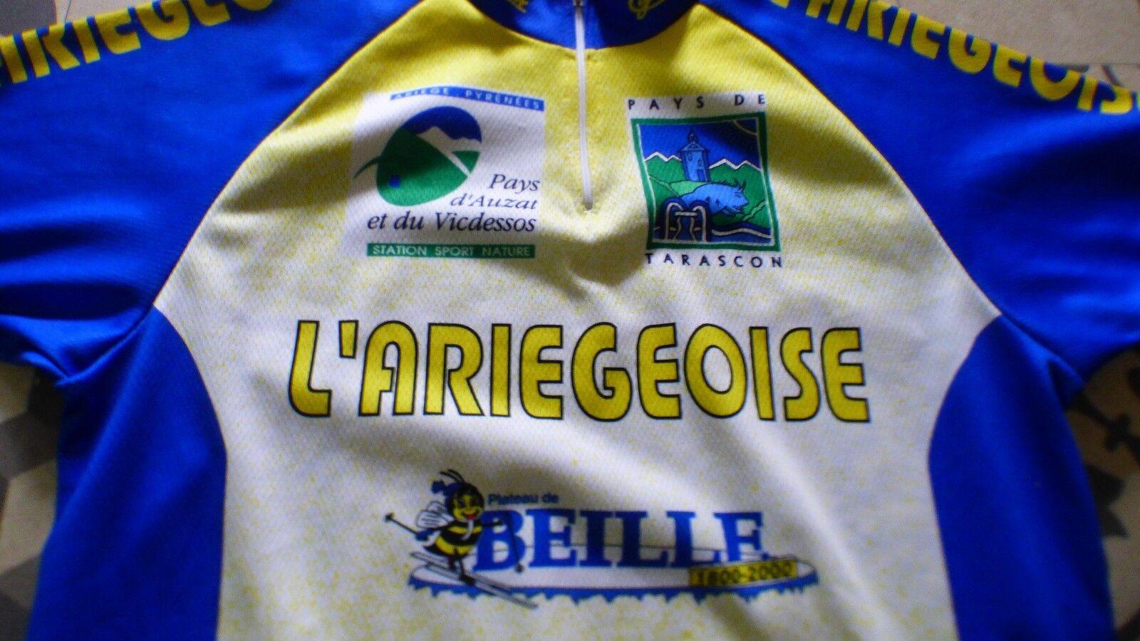 Maillot de vélo vintage L'Ariegeoise  66 cm sur 48cm 48cm 48cm 104fde