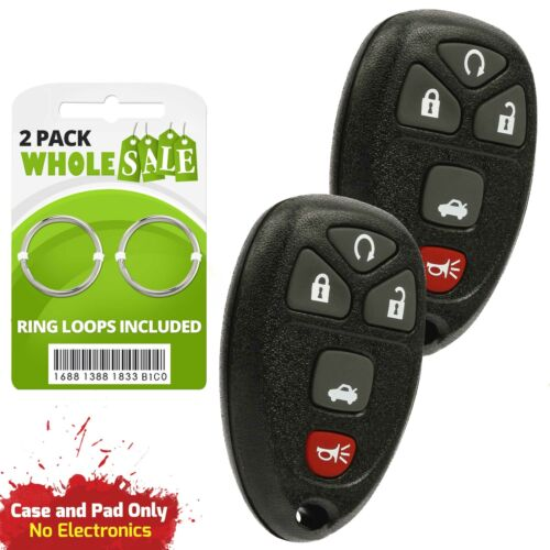 2 Replacement For 2005 2006 2007 Buick Lacrosse Keyless Entry Key Fob Shell Case