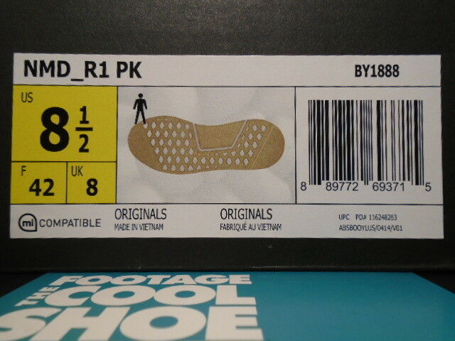Adidas nmd r1 pk primeknit kaugummi pack weißer Braun schwarze 8,5 ultra auftrieb by1888 r2 8,5 schwarze fb02f4