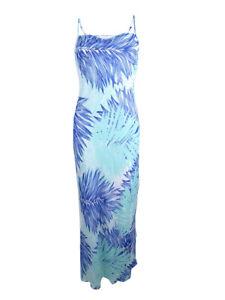 Calvin-Klein-Women-039-s-Tropical-Print-Chiffon-Maxi-Dress