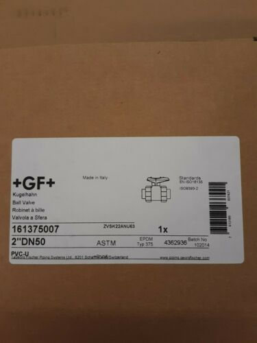 161375007 GF PIPING SYSTEMS PVC Ball Valve,Union,Socket//FNPT,2 in