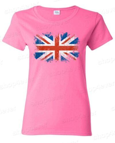 Union Jack British Flag Women's T-Shirt United Kingdom Flag Shirts fancy design
