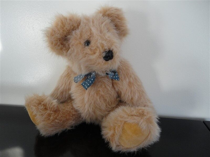 Vintage Fully Rare Shaggy Bear Fully Vintage Jointed 14 inch 405e28