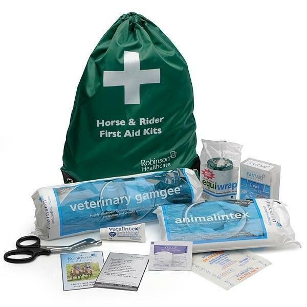 HORSE & RIDER FIRST AID KIT - in a bag - for horses and ponies