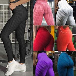 US-Women-Yoga-Gym-Anti-Cellulite-Compression-Legging-Butt-Lift-Elastic-Pants-HOT