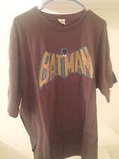 Batman Classic Vintage Retro Style Black T - Shirt Original 1960's Logo Shirt