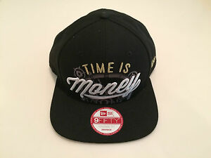 New-Era-Cap-Hat-Alice-In-Wonderland-TIME-IS-MONEY-Snapback-9Fifty-One-Size-Logo
