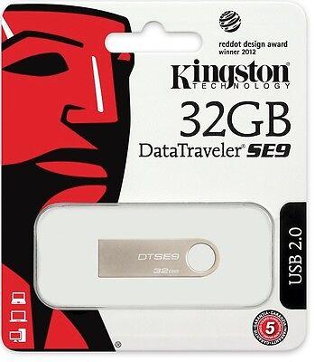 Kingston 32GB 32G DataTraveler SE9 USB 2.0 Flash Pen Thumb Drive DTSE9H/32GB