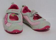 Merrell Relay Tour Pink Mesh Gray Nubuck Water Beach Shoes Junior Girls 4 US VGC
