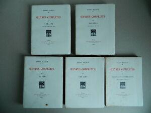 Henry Becque Œuvres complètes 5/7 Crès 1924-1926  sur vélin numéroté