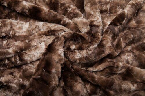 NEW ~ ULTRA SOFT /& PLUSH LUXURIOUS CHOCOLATE BROWN FUR LUXURY COMFORTER BLANKET