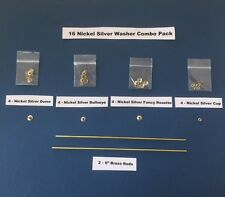 16 Nickel Silver Combo Pack collars/washers/pins to repair old straight razors