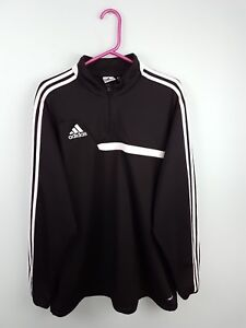 Image is loading MENS-BLACK-ADIDAS-CLIMACOOL-ATHLETIC-SPORTS-OVERHEAD-ZIP- 0bfbf3728891