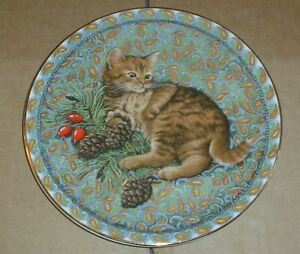 Aynsley-BLOSSOM-JANUARY-From-MEET-MY-KITTENS-Cat-Collectors-Plate