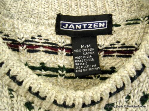 Girocollo Sweater Jantzen Mens Usa Variegated Creme Navy Grey Sz Medium Burgundy PHwgZwq