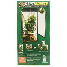 """Zoo Med ReptiBreeze Open Air Black Aluminum Screen Cage LG(18""""L x 18""""W x 36""""H)"""