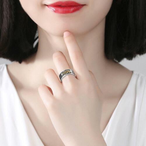 2019 Pixiu Protection Wealth Ring Silber Buddhist Feng Shui Mann Frau Schmuck