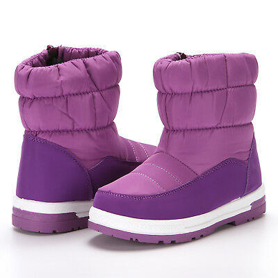 Cold Weather Snow Boots for Boy Girl Winter Outdoor Waterproof Fur Lined Kids