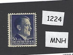 1224-MNH-1942-stamp-50-Gr-1ZL-Adolph-Hitler-Poland-THICK-PAPER