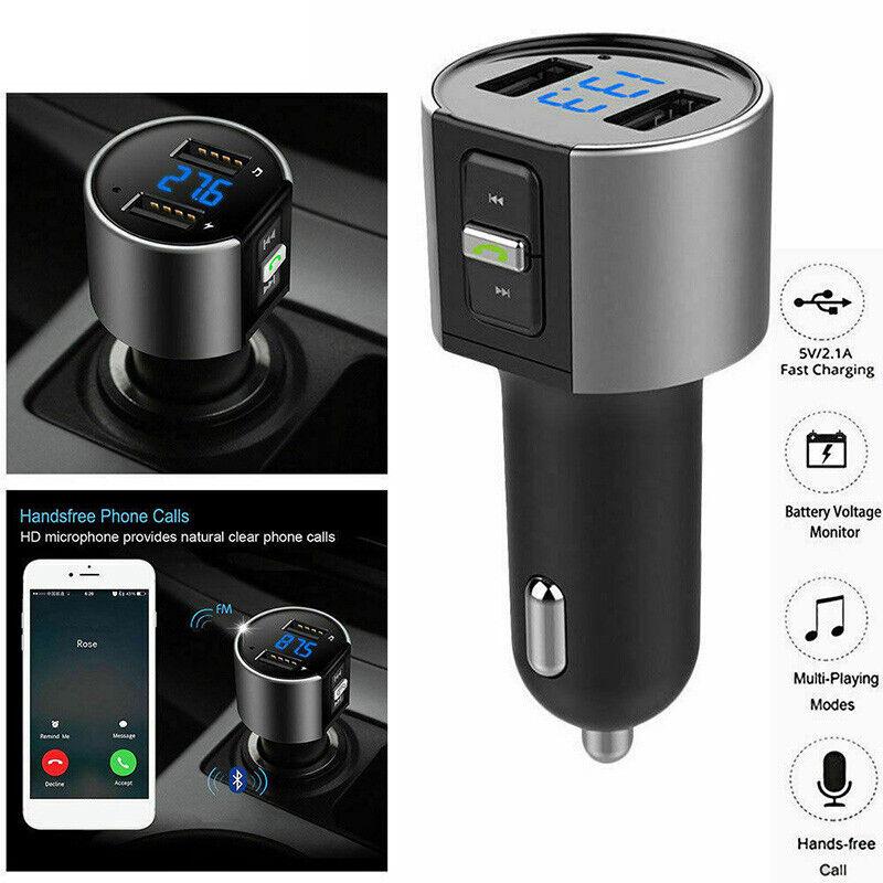 Hot Handsfree Bluetooth Car FM Transmitter USB Charger Adapter MP3 Player USA KY