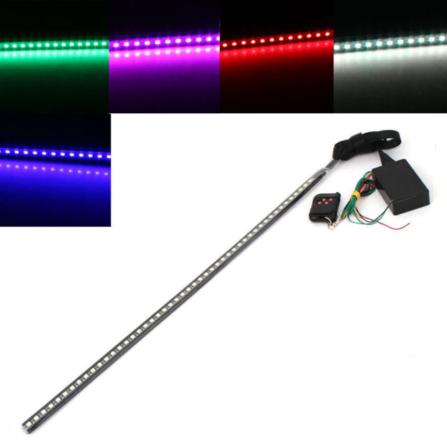 7 Color 56CM 48 Led Knight Rider Flash Strobe Scanner Neon Strip Light + Remote