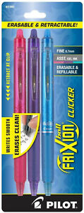Pilot-Frixion-Ball-Clicker-Erasable-Gel-Ink-Pens-Fine-0-7mm-Retractable-Assorted