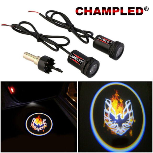 Champled For Fire Bird Led Door Projector Logo Shadow Car Tuning