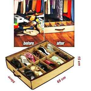 schuhbox schuhkarton schuhaufbewahrung schuhkommode aufbewahrung unterbett sack ebay. Black Bedroom Furniture Sets. Home Design Ideas