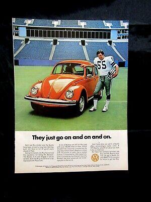 "1974 Volkswagen Bug-Little One Down Love Bug Original Print Ad 8.5 x 11/"""