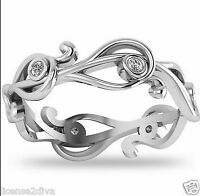 14k White Gold Charles & Colvard Moissanite Ring Made In The Usa Size 8