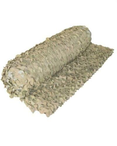 2.4 M X 3 M FILET DE CAMOUFLAGE BEIGE TAN DESERT A LA COUPE LARGEUR 2.4M VENDU A