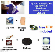 Dry Film Photoresist + Copper Clad, Developer, Resist Remover + Etchant - EPK063