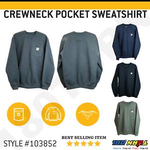 Carhartt-Men-039-s-Crewneck-Pocket-Sweatshirt-Warm-Super-Soft-Fleece-Lined-103852