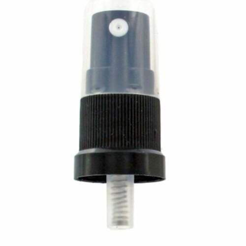 NEBULIZZATORE 18mm CON FLANGIA Tamper Evidente Collo Nero Adatto 18mm tipo di bottiglia