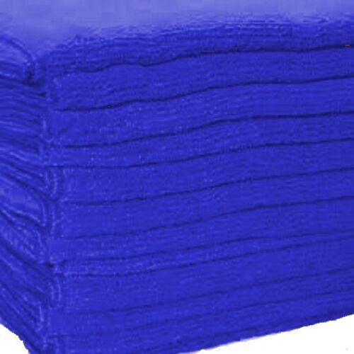 100 dark blue microfiber towel new cleaning cloths 16x16 300 gsm! thick /& plush