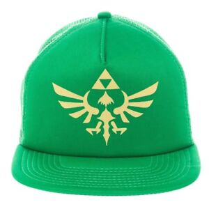 a02c97f3 Details about New Men's Nintendo Legend Of Zelda Green Snapback Trucker Cap  OSFA