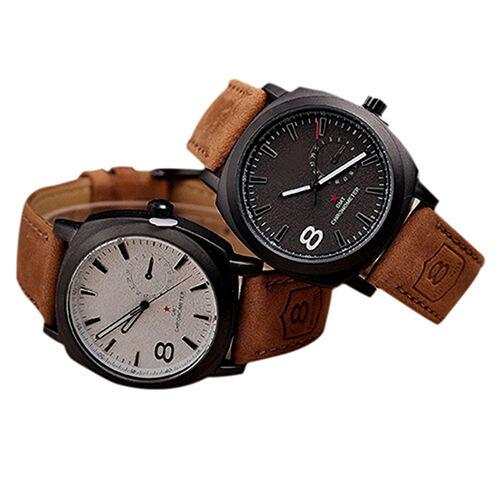 Hot-Popular-Casual-Curren-Unisex-Mens-Stylish-Quartz-Analog-Leather-Wrist-Watch